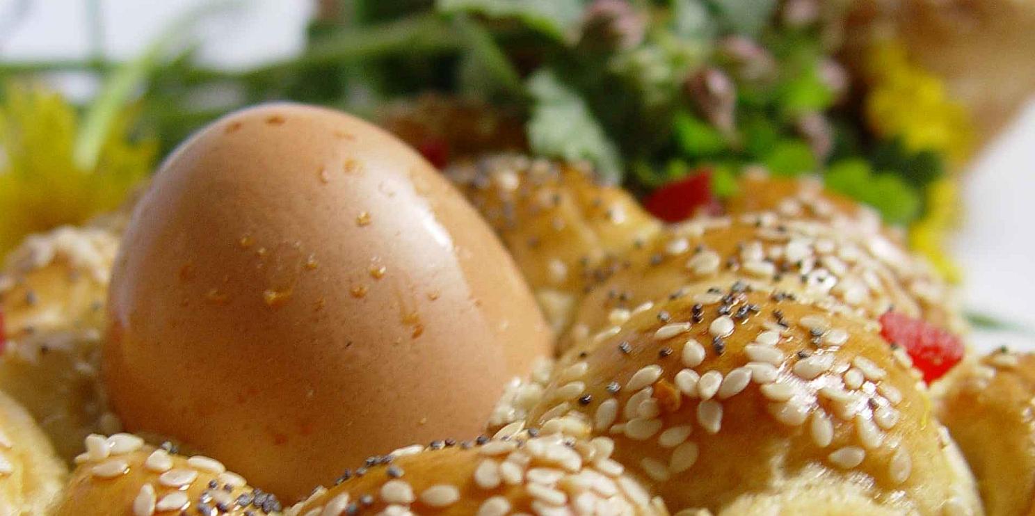 Великденско яйце и козунак