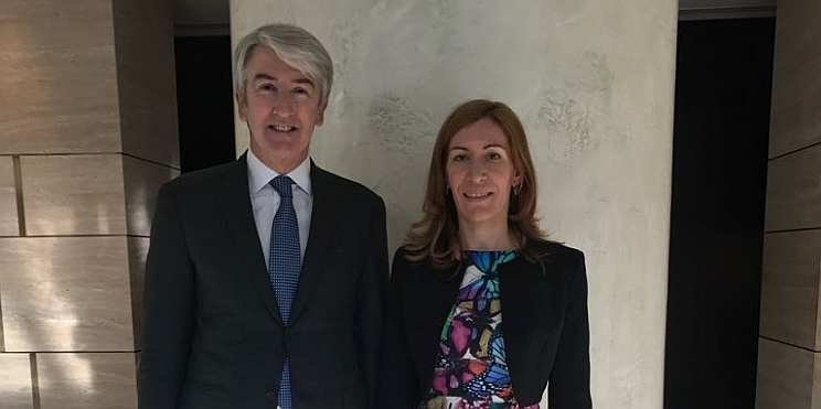 Министър Ангелкова и Кристиан Баран, главен изпълнителен директор на Хотрек