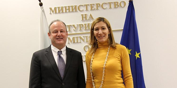 Ерик Рубин, посланик на САЩ в България, и министър Ангелкова