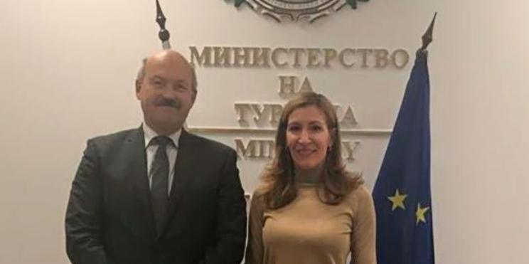 Душан Щраух, посланик на Чешката република, и министърът на туризма Николина Ангелкова