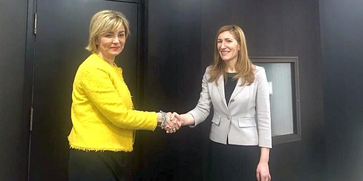 Рената Пинджо, зам.-министър на търговията, туризма и телекомуникациите на Сърбия, и министър Ангелкова