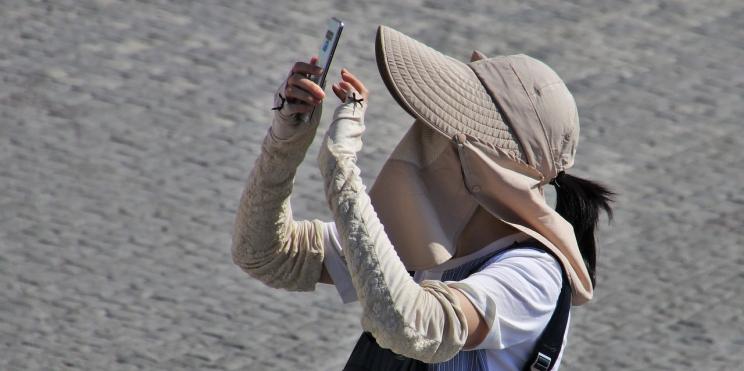 турист с маска