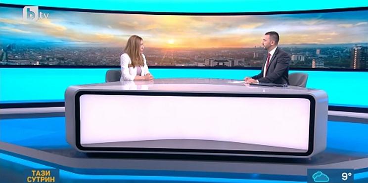 министър Ангелкова в студиото на bTV